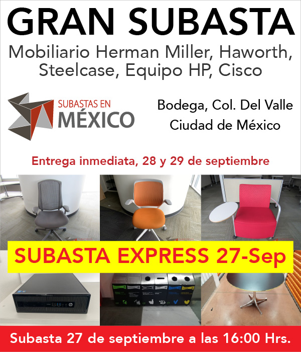 Subasta Mobiliario Bodega Del Valle